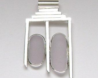 SALE!!  Sea Glass Jewelry - Sterling Lavender Sea Glass Pendant