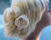 Bridal Hair Piece, Wedding Flower Clip, Bridal Floral Headpiece, Flower Rose Hair Facinator, Hair Pin
