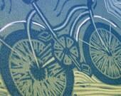 Cruiser Bike - Three Colour Reduction Print