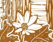 Blood Root - two colour block print