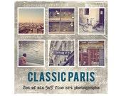 Paris Photo Set, Fine Art Prints, Paris Photography Decor, Eiffel Tower, Luxembourg Gardens, Paris Decor - CLASSIC PARIS Set (5x5)