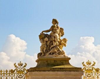 Paris Photography, Home Decor, Versailles France Fine Art Photograph, Paris Decor, Clouds, Paris Print - Gates of Versailles