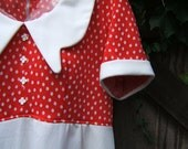 RESERVED Vintage Babydoll Minidress Red and White Dots size M/L