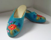 Szegedi Papucs  Vintage Hungarian Embroidered Slippers