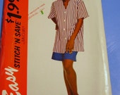 McCalls 1994 Misses Baseball Style Top and Shorts Pattern 7046
