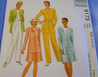 Misses Suit Wardrobe Pattern 9173