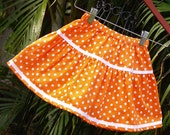 Polka Dot Girls Boutique Skirt  Orange/White or Red/White Baby Toddler 6mos to 10