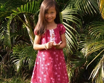 Boutique A Line Dress Raspberry Dandelion Girls Toddlers Baby 6mos to 12