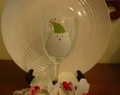 Polar Bear Wine Glass Handpainted