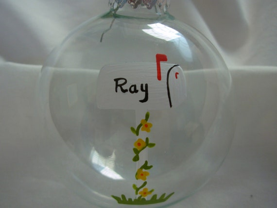 Handpainted House Warming Ornament Personalized