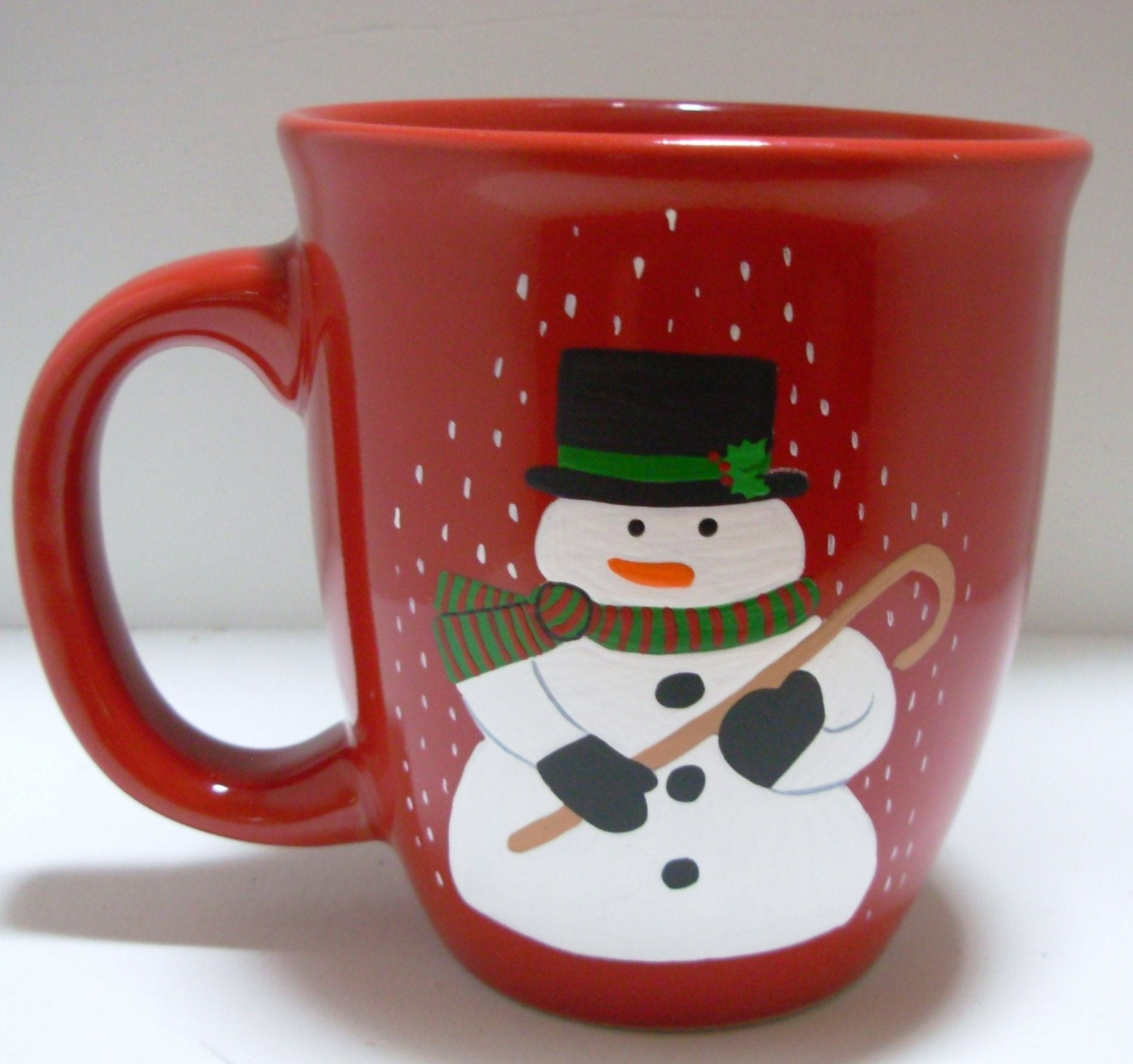 Snowman Coffee Mug Handpainted Personalized by Kathy1910 ...