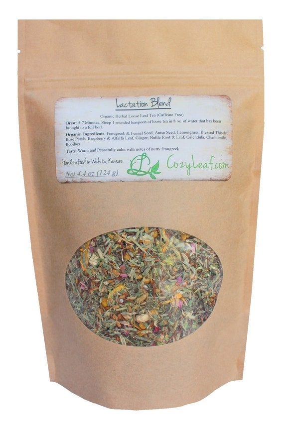 Large Refill Bag Organic Lactation Blend for Nursing Mommy Loose Leaf Tea