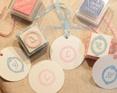 Hand Carved Lace Initial Rubber Stamp (Made to Order)