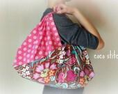 Japanese style wrap bag / azuma bukuro size Large/ Amy Butler fabric.