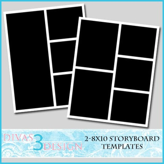 items similar to 8x10 storyboard collage templates set 2. Black Bedroom Furniture Sets. Home Design Ideas