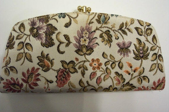 Vintage Baronet Leather and Fabric Clutch Wallet