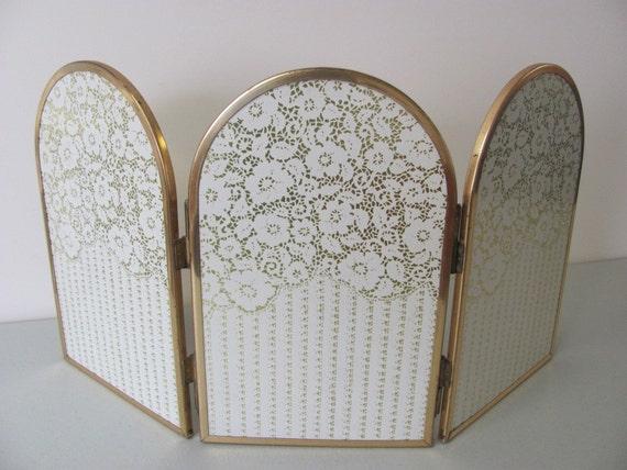 Vintage Dresser Top Folding Three Way Mirror