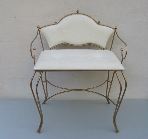 Vintage Mid Century Vanity Chair