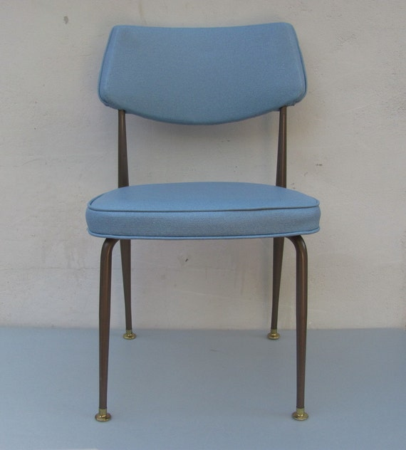 Blue Kitchen Table And Chairs: Vintage Mid Century / Kitchen Table Chair / Blue