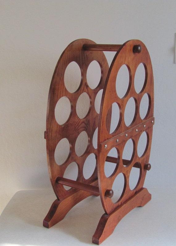 Vintage Wine Rack / Wood / Arch  / Hand Made
