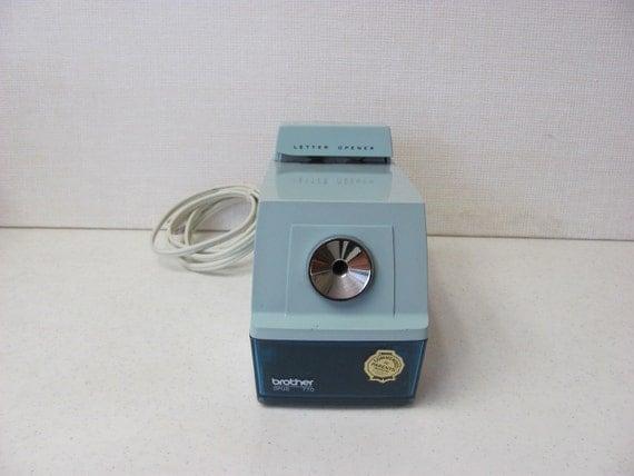 Vintage Electric Pencil Sharpener / Letter Opener / Blue
