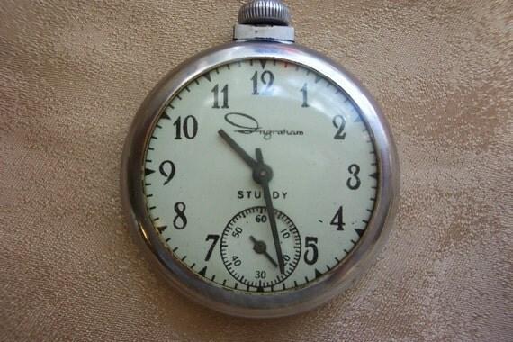 Vintage Ingraham Pocket Watch Sturdy