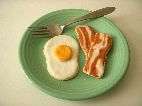 Bacon and Eggs Cookie Cutter -  3 piece set