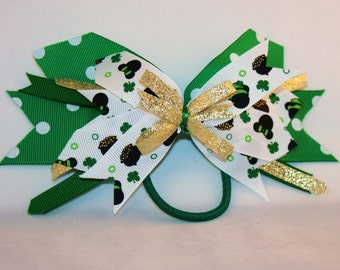 Minnie Mouse St. Patrick's Day Green Hair Bow