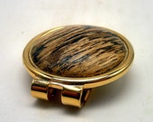 Spalted Oak and Gold Money Clip