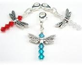 Swarovski Crystal Dragonfly Charm
