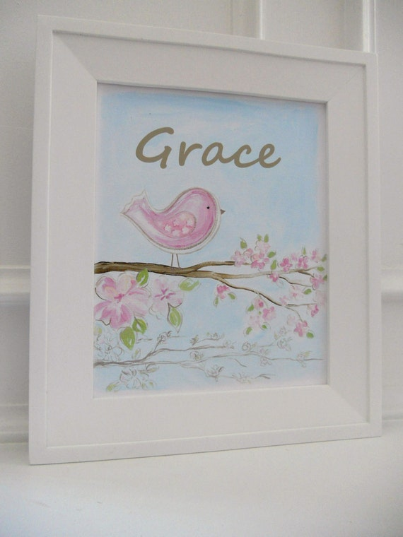 8x10 grace birdie print