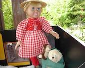 Plaid,  Polka Dots and Roses  Dress