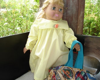 Cheerful Yellow Dress for Doll