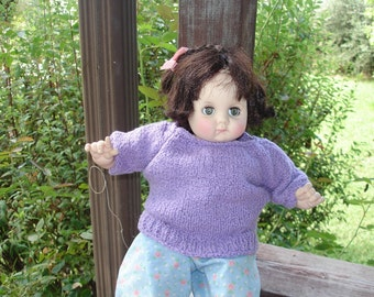 I'm Having a Purple Day Doll Sweater