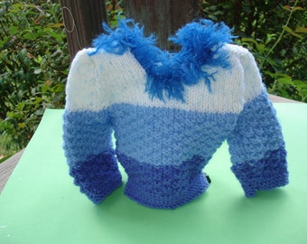 Blue Baby Blue Doll Sweater