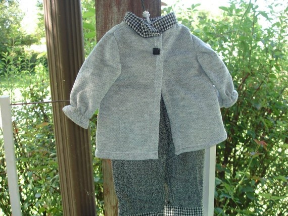 Cozy Grey Pantsuit for the Athletic  Doll