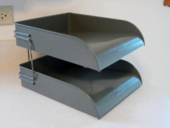 Globe Wernicke Metal Desk Stacking Letter Trays
