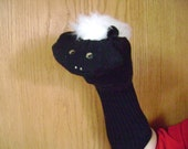 Skunk Sock Puppet from Puppets by Margie Skunks