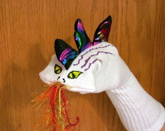 Fire breathing Dragon Sock Puppet from Puppets by Margie
