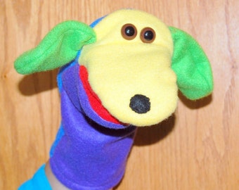 Many bright  Colors Hand Puppet with moveable mouth