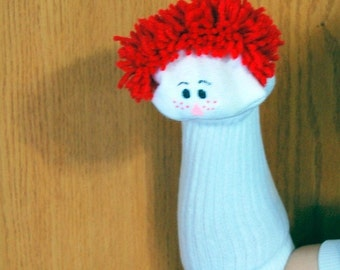 Red Haired Boy Sock Puppet from Puppets by Margie