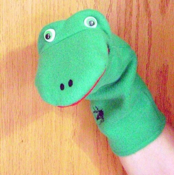 Fleece Frog Hand Puppet