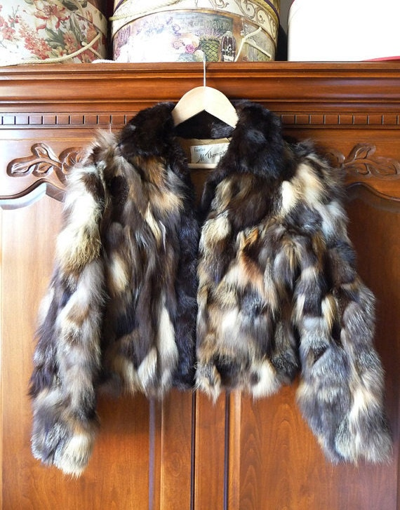 hold for bettyford101- please do not buy- vintage mink and fox jacket