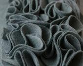 Rows of Ruffles Felt Pillow