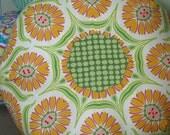 Sunflowers - Gumdrop Tuffet floor pillow - Large