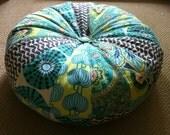 "18"" Honey Bun Pouf Bean Bag Floor Pillow - Amy Butler Lark fabrics"