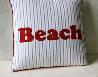 Take me to the Beach - summer vacation pillow