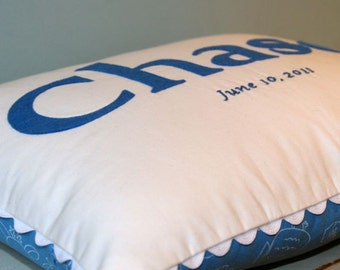 Chase - Personalized Baby Pillow with Birthdate