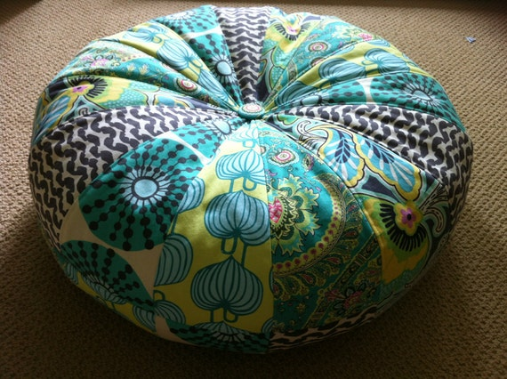 "18"" Honey Bun Pouf Bean Bag Floor Pillow - Amy Butler Lark fabrics"
