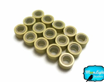 Silicone Hair Bead, 10 Pieces - BEIGE Silicone Micro Ring Beads for Feather Hair Extensions: 293